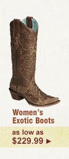Womens Exotic Boots on Sale