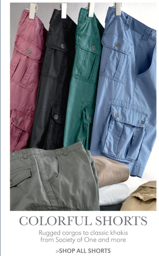 COLORFUL SHORTS | RUGGED CARGOS TO CLASSIC KHAKIS FROM SOCIETY OF ONE AND MORE | SHOP ALL SHORTS