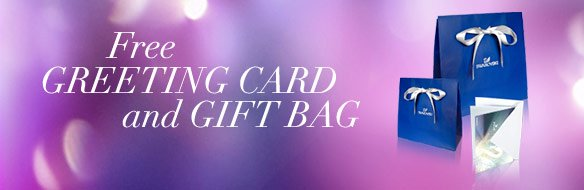 Free greeting card and gift bag