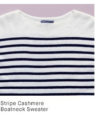 Striped Cashmere Boatneck Sweater