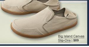 Big Island Canvas Slip-Ons   $89
