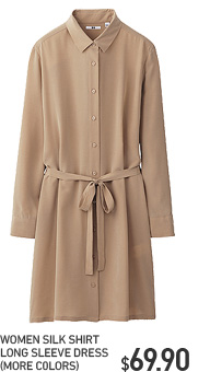 SILK SHIRT LONG SLEEVE DRESS