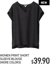 PRINT SHORT SLEEVE BLOUSE