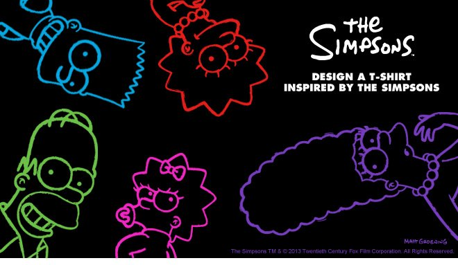 Design a t-shirt inspired by The Simpsons