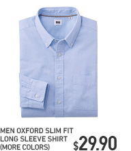 MEN SLIM FIT OXFORD SHIRT