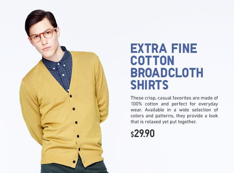 EXTRA FINE COTTON BROADCLOTH SHIRTS