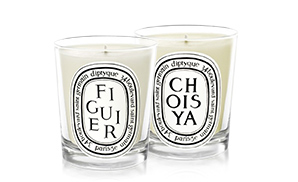 Figuier + Choisya for a fruity, green, floral atmosphere.