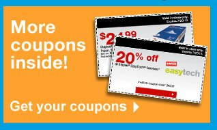 More  coupons inside! Get your coupons.