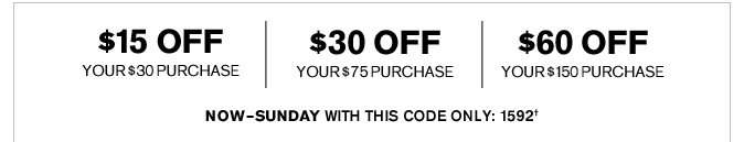 Receive $30 Off Your $75 Purchase