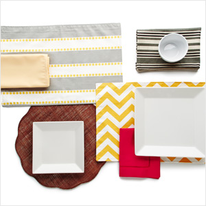Freshen Up the Table: With Solid & Striped Linens