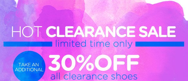 Take an Additional 30% Off All Clearance Shoes!