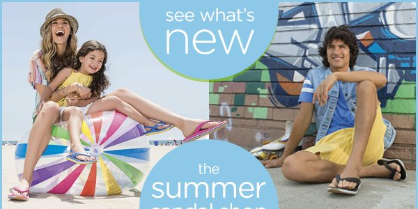 see what's new the summer sandal shop always open at Crocs - shop now