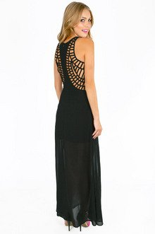 ALICIA M SLIT MAXI DRESS 46