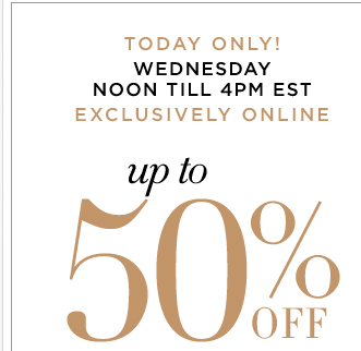 TODAY ONLY: Up to 50% off ALL dresses! Shop Now!
