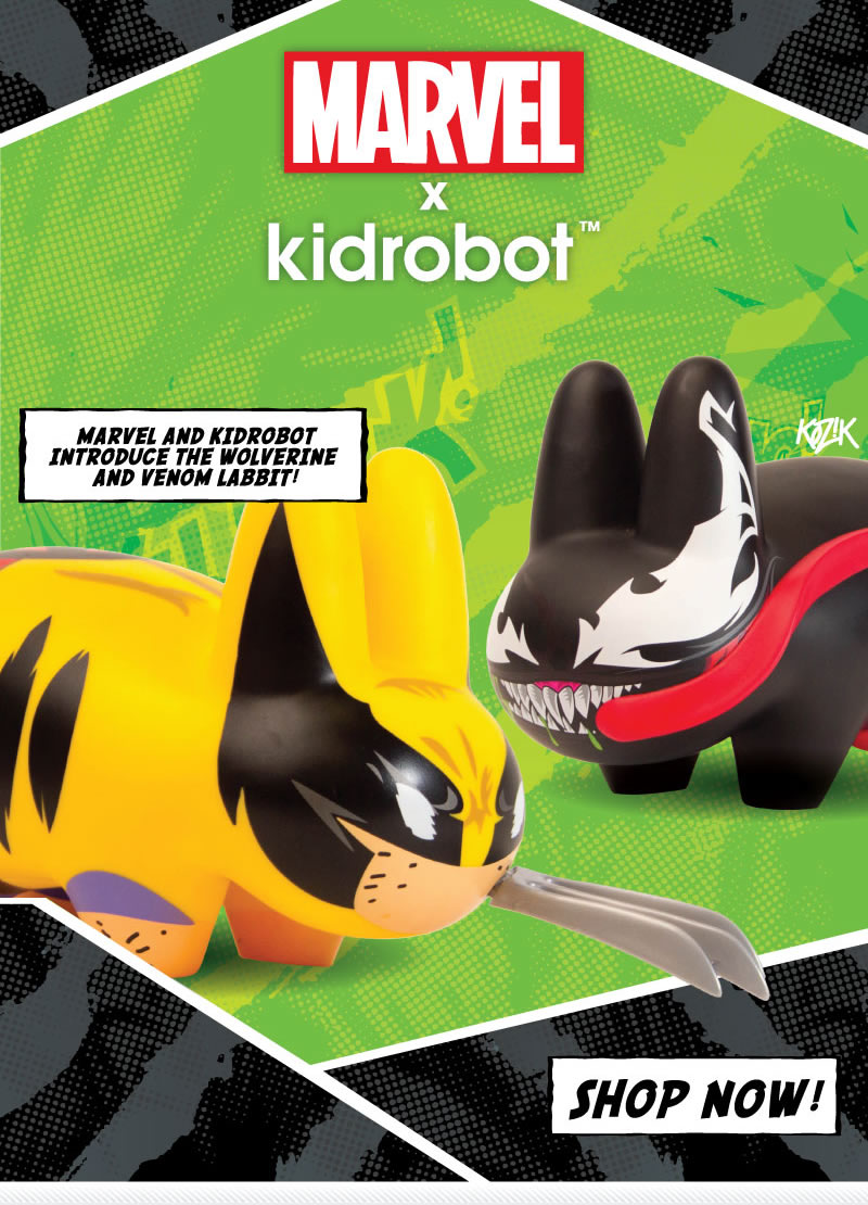 Marvel x Kidrobot - Marvel and Kidrobot introduce the Wolverine and Venom Labbit!