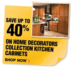 Save up to 40% on Home Decorators Collection Kitchen Cabinets