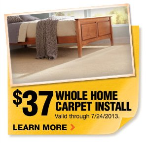 $37 Whole Home Carpet Install