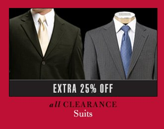 Extra 25% Off - Clearance Suits