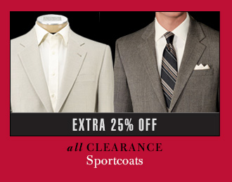 Extra 25% Off - Clearance Sportcoats