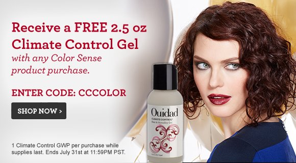 Receive a FREE 2.5 oz Climate Control Gel with any Color Sense product purchase. Enter Code: CCCOLOR