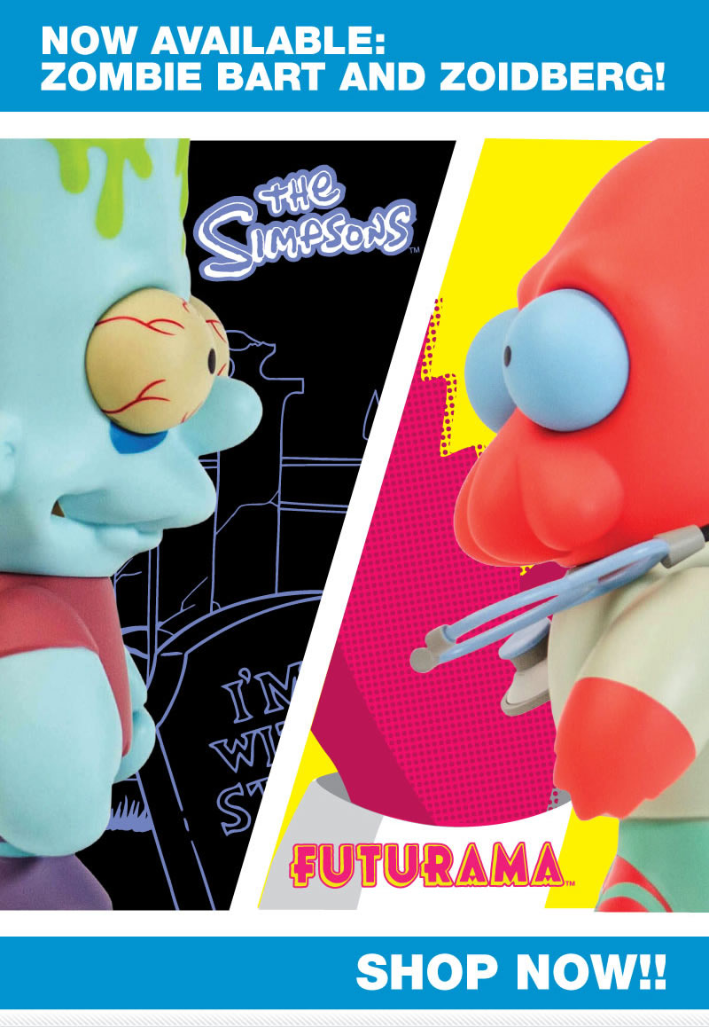 Now available: Zombie Bart and Zoidberg!