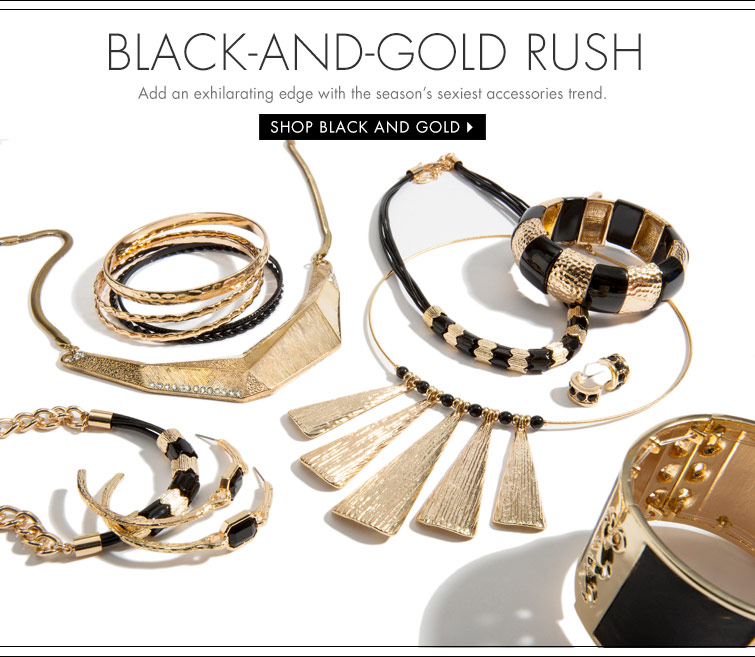 Shop Black and Gold Jewelry