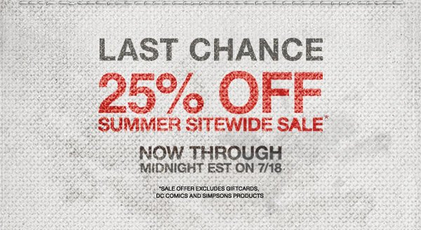 LAST CHANCE | 25% OFF SUMMER SITEWIDE SALE*