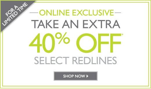 40% Off Select Redlines
