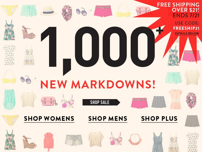 New Markdowns Added - Free Shipping! - Shop Now