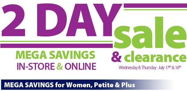 2-Day Mega Savings Sale