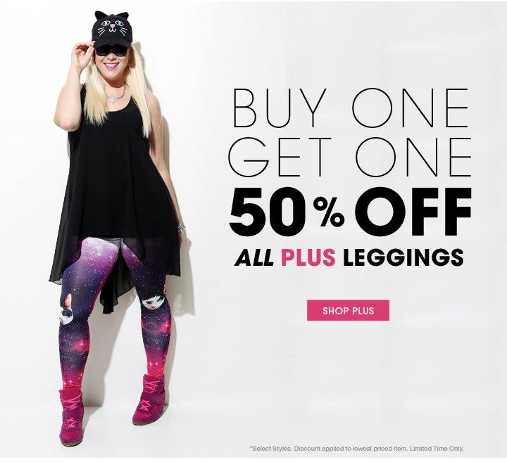 Buy 1 Get 1 50% Off Plus Leggings