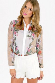 FLORAL SCENT BUTTON DOWN 39