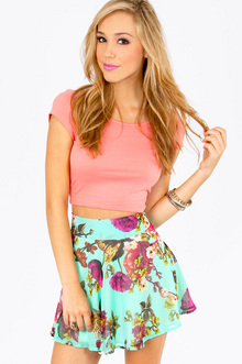 FAIRLY FLOWERING SKATER SKIRT 28