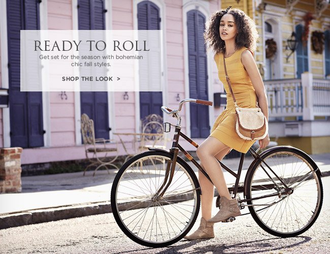 Ready to Roll - Get set for the season with bohemian chic fall styles. Shop the look
