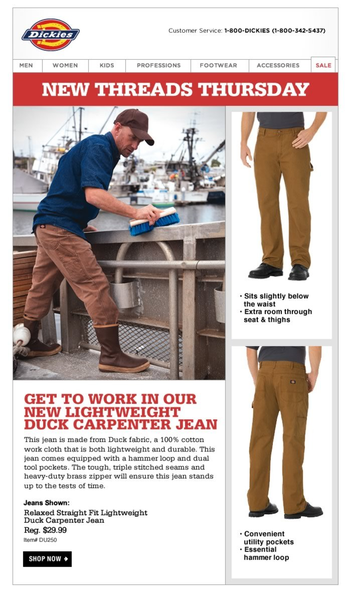 GET TO WORK IN OUR NEW LIGHTWEIGHT DUCK CARPENTER JEAN. This jean is made from Duck fabric, a 100% cotton work cloth that is both lightweight and durable. This jean comes equipped with a hammer loop and dual tool pockets.