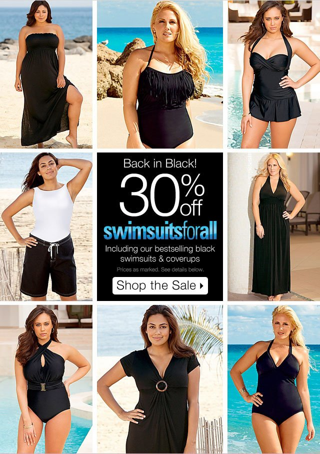 30% off swimsuits for all
