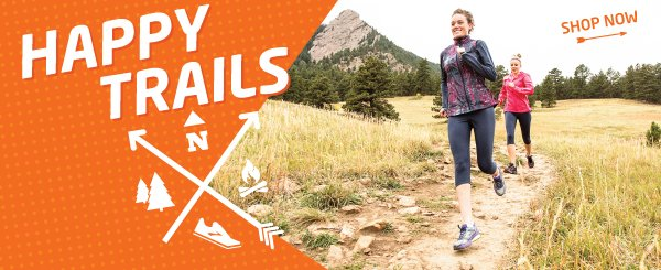 Happy trails to you! Lace up and leave the asphalt behind with our trail shoes.
