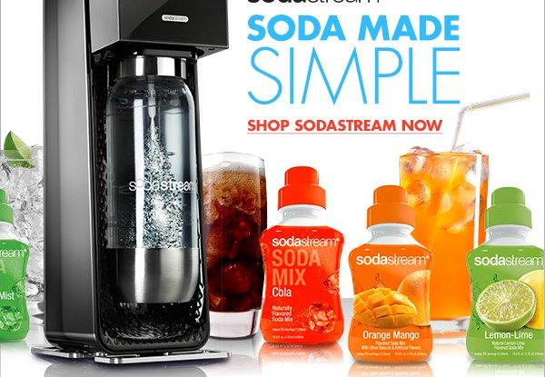 sodastream(R) SODA MADE SIMPLE SHOP SODASTREAM NOW