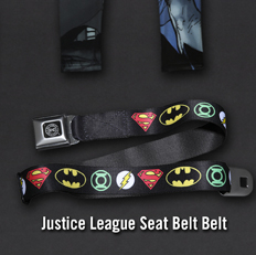 JUSITCE LEAGUE SEAT BELT BELT