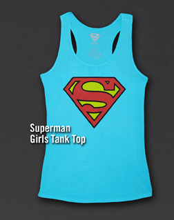 SUPERMAN GIRLS TANK TOP