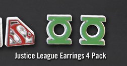 JUSTICE LEAGUE EARRINGS 4 PACK