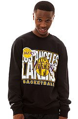 LA Lakers Crewneck Sweatshirt in Black