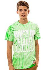 Ebonics Tee in Lime and Tie Dye