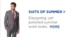 SUITS OF SUMMER | Easygoing, yet polished summer work looks.  MORE