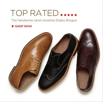 TOP RATED | The handsome (and versatile) Digby Brogue. SHOP NOW
