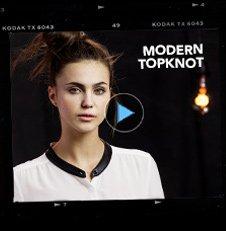 modern topknot