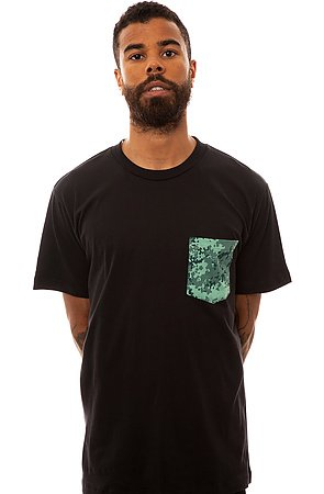 Click to Shop Spool&Thread the Pocket Tee in Black and Camo