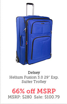 Delsey Helium Fusion 3.0 29 In. Exp. Suiter Trolley with Built-In Overweight Indicator