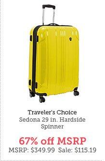 Traveler's Choice Sedona 29 in. Hardside Spinner