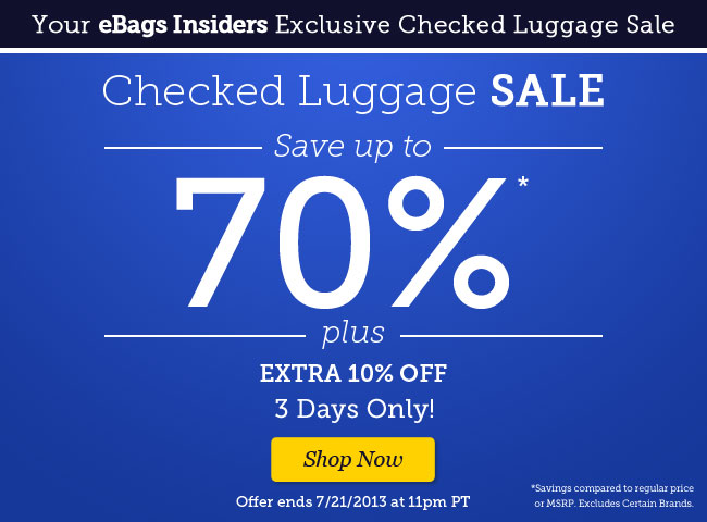 Shop Checked Luggage Sale